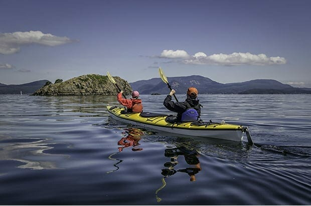 Kayaking in San Juan Islands