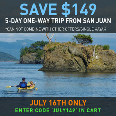 Save Big on 5-day One-Way San Juan Islands Sea Kayaking Trip
