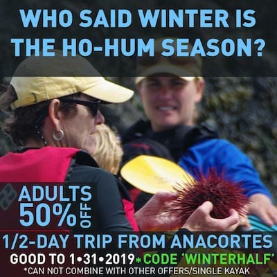 Kayak Half-Day from Anacortes 50% off