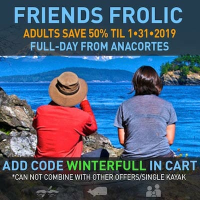 Kayak Full-Day from Anacortes 50% off