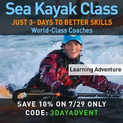 One Day Discount on Sea Kayaking Adventure Learning Course